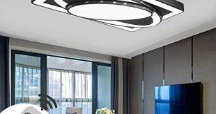 deckenlampe led deckenleuchte 78w wohnzimmer lampe modern deckenleuchten kueche badezimmer flur schlafzimmer schwarz 78w dimmbar 310x165 - Deckenlampe LED Deckenleuchte 78W Wohnzimmer Lampe Modern Deckenleuchten Kueche Badezimmer Flur Schlafzimmer (Schwarz, 78W-Dimmbar)