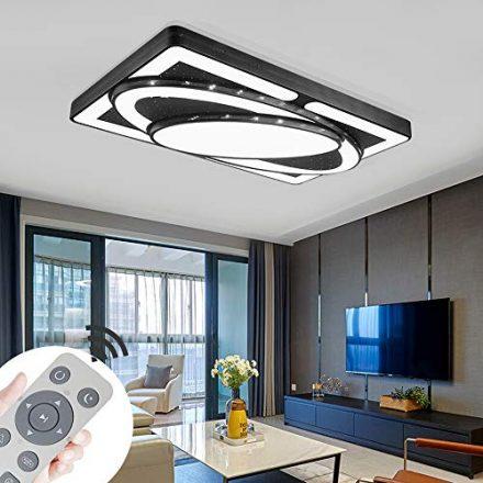 Modern 48W Warmweiß LED Deckenleuchte Deckenlampe Wohnzimmer Esszimmer IP44 230V