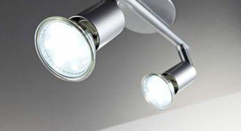 LED Deckenspot LED Deckenlampe 2 Flammig inkl Reteck LED Deckenleuchte Schwarz 380LM 2 x 3.5W GU10 LED Lampen Deckenstrahler Schwenkbar Warmwei/ß Nicht Dimmbar