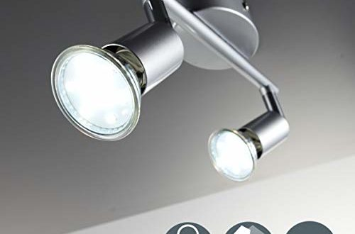 led deckenleuchte schwenkbar inkl 2 x 3w leuchtmittel gu10 led deckenlampe led deckenstrahler led leuchte led deckenspot 500x330 - LED Deckenleuchte Schwenkbar Inkl. 2 x 3W Leuchtmittel GU10 LED Deckenlampe LED Deckenstrahler LED Leuchte LED Deckenspot