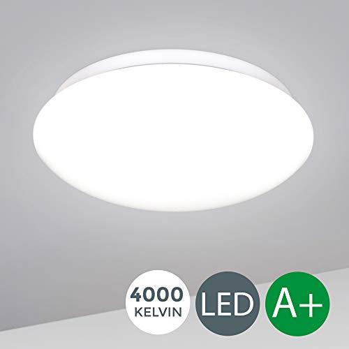 LED Deckenlampe  Büro Lampe   inkl. 12W 1200lm LED Platine, Deckenleuchte für Wohnzimmer, 4000K neutralweiss, 230V, Ø 280mm