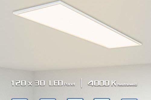 oubo led panel deckenleuchte 120x30cm neutralweiss 48w 4200lm 4000k silberrahmen lampe duenn slim ultraslim deckenleuchte wandleuchte einbauleuchten 500x330 - OUBO LED Panel Deckenleuchte 120x30cm Neutralweiß / 48W / 4200lm / 4000K / Silberrahmen Lampe dünn SLIM Ultraslim Deckenleuchte Wandleuchte Einbauleuchten
