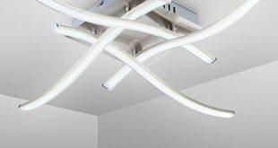 41wudNb1xkL 310x165 - LED Deckenleuchte I 4 flammig I moderne Deckenlampe I inkl. 4 x 3,4 W 350lm LED Platine I 3000K I matt-nickel I IP20