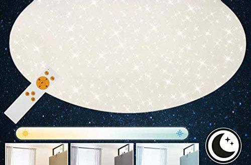 briloner leuchten led deckenleuchte mit fernbedienung deckenlampe dimmbar farbtemperatursteuerung 2200 lumen o 39 cm 22 w weiss 500x330 - Briloner Leuchten LED Deckenleuchte mit Fernbedienung, Deckenlampe dimmbar, Farbtemperatursteuerung, 2200 Lumen, Ø 39 cm, 22 W, Weiß