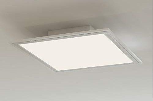 Briloner Leuchten LED Deckenleuchte Panel LED Lampe Wohnzimmer lampe Deckenlampe Deckenstrahler 12W 500x330 - Briloner Leuchten - LED Deckenleuchte-Panel, LED-Lampe, Wohnzimmer-lampe, Deckenlampe, Deckenstrahler, 12W, quadratisch, weiß, 29.5 cm